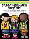 Student Observation Checklist Form [Pre K through Grade 5]