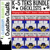 K-5 TEKS Checklists