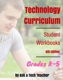 K-5 Technology Curriculum: Student Workbooks Bundle