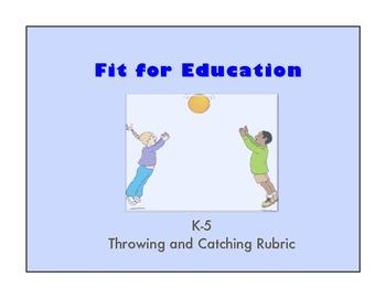 K-5 Throwing and Catching Rubric Bundle