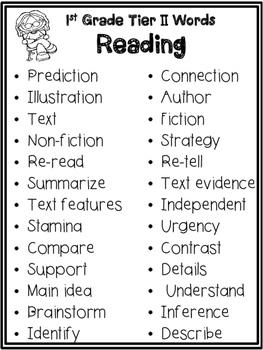 K-5 Tier 2 Word Lists