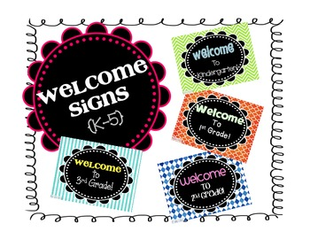 K-5 Welcome Signs {FREEBIE}