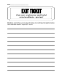 K-5 Writing Prompt Exit Ticket - What Makes a Good Pet?