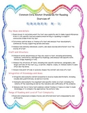 K-5 and 6-12 English Language Arts Anchor Statement Charts