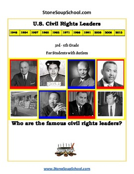 K- 5 th Grade U.S. Civil Rights Time-line For Students with Autism