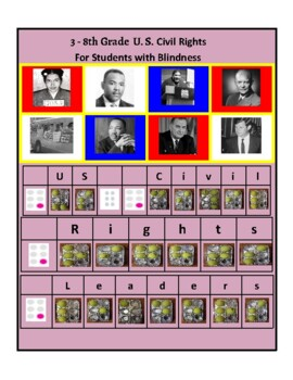 U.S. Civil Rights Time-line For Students with Blindness