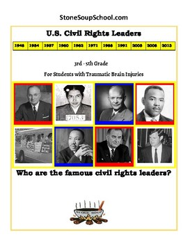 K- 5 th Grade U.S. Civil Rights Time-line - Students w/ Traumatic Brain Injuries