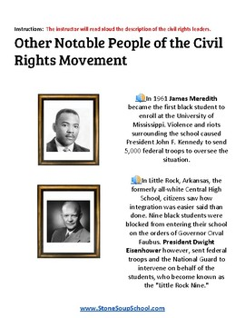 K- 5 th Grade U.S. Civil Rights Time-line for Traditional Students