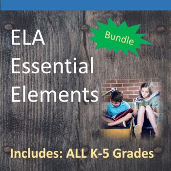 K-5th ELA Essential Elements for Cognitive Disabilities: Data Collection BUNDLE