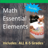 K-5th Math Essential Elements for Cognitive Disabilities: Data Collection BUNDLE