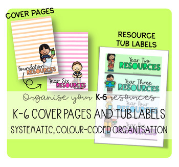 K-6 COVER PAGES AND TUB LABELS (STRIPE DESIGN)