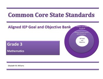 K-6 Common Core Aligned IEP Goal and Objective Bank Bundle