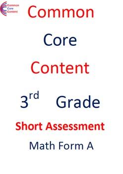 K - 6  Common Core Math Assessment SUPER Bundle. 14 tests. Each w/ 10 questions