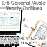 K-6 General Music Yearly Outlines: 2020-21 Planning