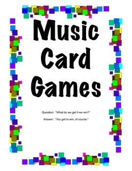 K-6 Music Card Games
