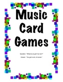 K-6 Music Card Games