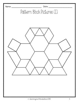 {K - 6} Pattern Block Activities