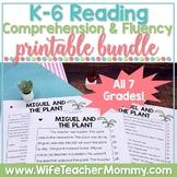 K-6 Reading Comprehension Fluency Passages Bundle PRINTABLE PDF ONLY