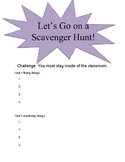 K-6 Science Living and Non-Living Things Classroom Scavenger Hunt