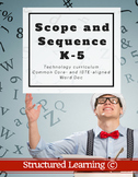 K-5 Technology Curriculum Scope and Sequence