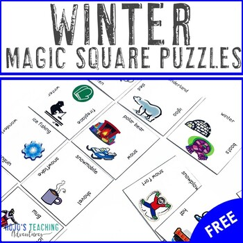 FREE Winter Vocabulary Center Game