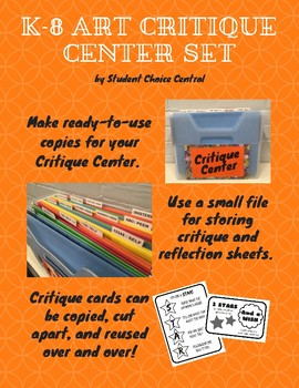 K-8 Art Critique Center Set