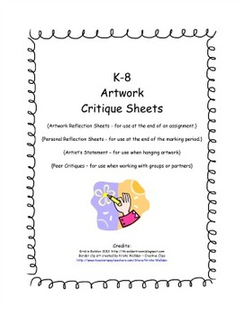 K-8 Artwork Critique Sheets
