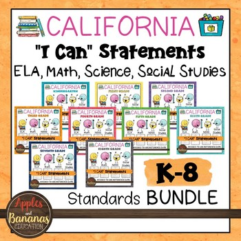 K-8 I Can Statements Bundle