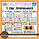 K-8 I Can Statements Bundle