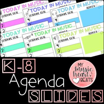 K-8 Learning Goal and Agenda Slides - Editable
