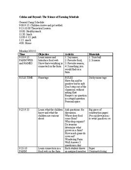 K-8 Week Long Science Camp Curriculum