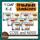 K-8 Standards Checklists