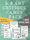 K-8 TAB Art Critique Cards Pack