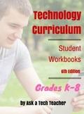 K-8 Technology Curriculum: Student Workbooks bundle
