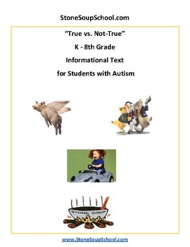 K - 8 True vs Not True for Students with Autism