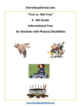 K - 8 True vs Not True for Students with Physical Disabilities