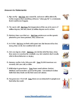 K - 8 True vs Not True for Students with Visual Impairments