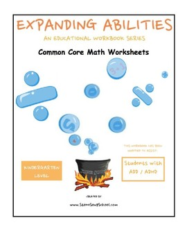K -Math Bundle: Geometry,Algebra,Base 10,M & D,Count to 100 for Students w/ADD