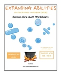 K - Math Bundle:Geometry,Algebra,Base 10,M & D,Count to 100- Students w/ ADD