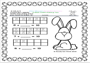 K April Showers Bring May Flowers Spring Math Splash (PRINT & GO)