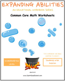 K -Math Bundle:Geometry, Algebra, Base10, M&D,Counting to100- Students w/ Autism