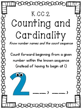 K.CC.2 Count forward from any number