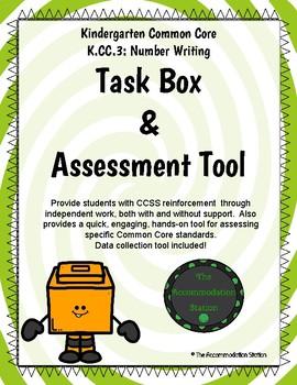 K.CC.3 Number Writing Math Task Boxes