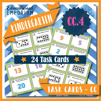 """K.CC.4 Task Cards: """"Understanding Counting"""" Task Cards, K.CC.4 Centers"""