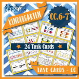 "K.CC.6-7 Task Cards: ""Comparing Numbers"" Task Cards, K.CC.6 & K.CC.7 Centers"