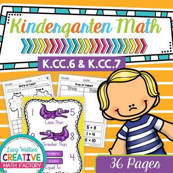 Kindergarten Common Core Math   No Prep Worksheets   K.CC.