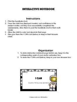 K.CC.A.1 Assessment and Interactive Notebook (NO PREP)