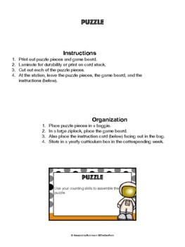 K.CC.A.1 Counting to 100 Puzzle (Math Center)