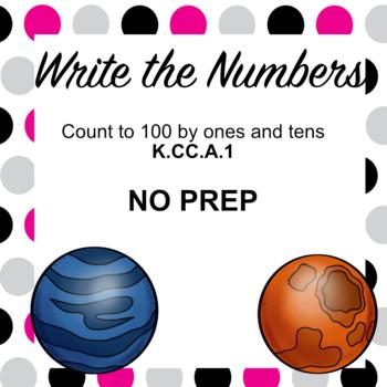 K.CC.A.1 Write the Numbers (NO PREP)