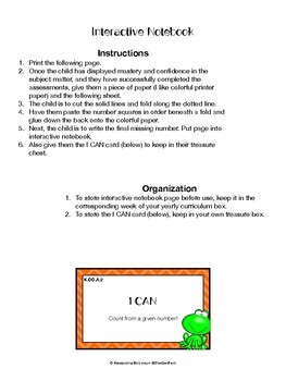 K.CC.A.2 Assessment and Interactive Notebook (NO PREP)